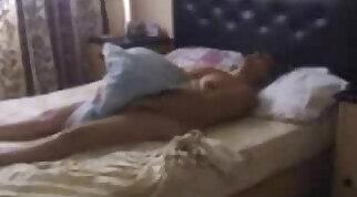 Hidden cam catches my mum masturbating on bed