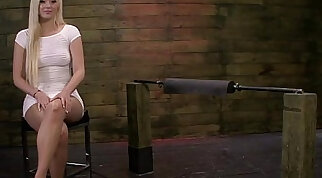 Jenna Ivory is Tormented on the Sybian and Fucked Hard