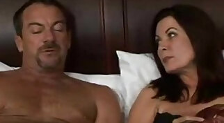 Cheating wife waking up next to me on the bed