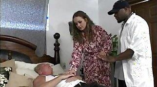 Big tit white housewife enjoys anal