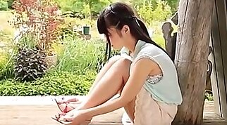 Asian school maid tied up and banged