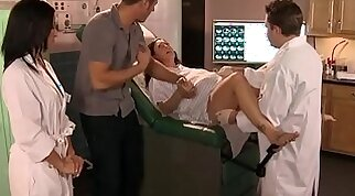 Doctor Adventures Banging the Nurse scene starring Ann Marie Rios and Danny Mountain