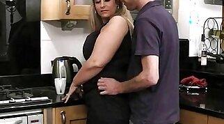 Blonde BBW Fucking Everyday in the Kitchen Bed