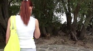 natural teen pounded in wild outdoor orgy with guys