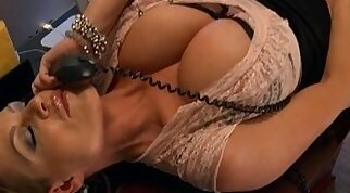 Bigboobed Bombshell Jenny O pays a visit to the office that