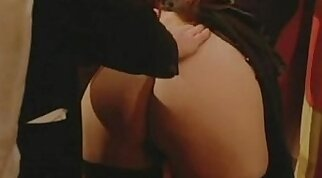 Lusty stepsis shows her messy cunt