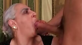 Brit Mariah - Granny catches young cock