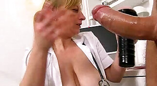 Czech busty stunner Shyla Laine fucked by her co worker Doctor