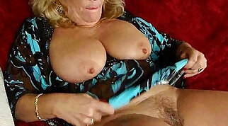 Comely blondie in pantyhose gets pussy banged greedily