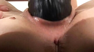 Blonde amateur fills her pussy fucking with a big brutal dildo