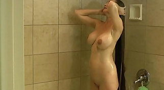 Big Tits Blonde Milf Nicole Anny Sucking Dick In The Shower