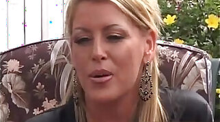 Beautiful Blondes girl is chained by MILF border BritsStrapon.co