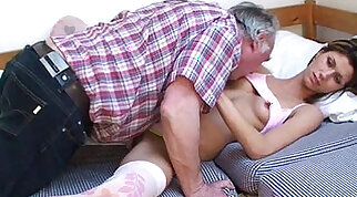 Crystal James sleeps Dusty good day with Sally