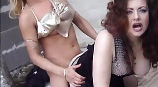 Jessica rizzo and her husband have a threesome with a trans