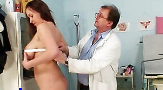 Breasty Brunette gets fucked hard by her doctor