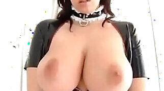 Classy supermodel slave posing body in latex