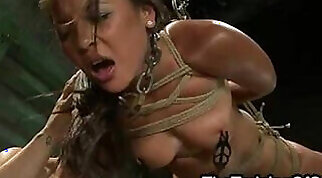 Beautiful babe using vibrator on her tight pussy
