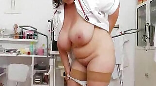 Blonde and brunette in cute uniform fucked at a pawnshop